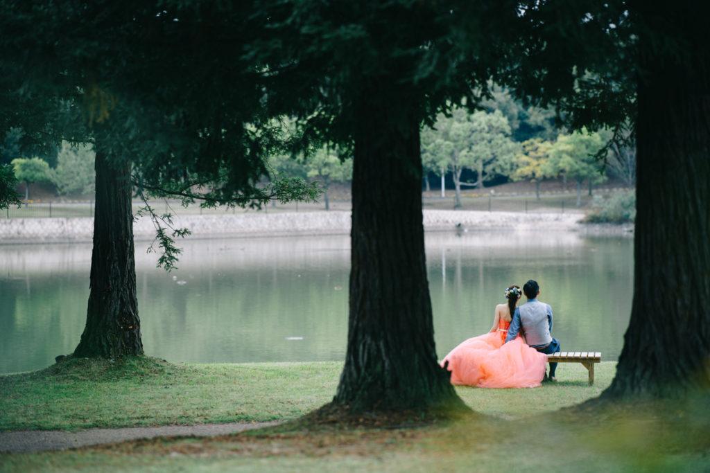 蜻蛉池公園ドレスロケ